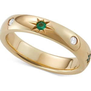 687ca1b433bb2 Marchesa Emerald (1/10 Ct. t.w.) & Diamond (1/10 Ct. t.w.) Band in 18k  Gold, Created for Macy's