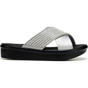 fca4be485b44 Skechers Women s Bumblers Summer Scorcher Wedge Sandals (Silver ...