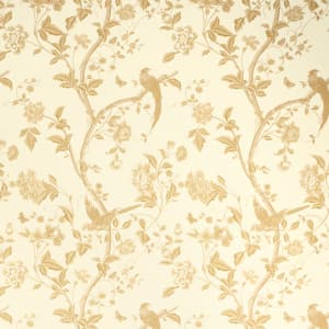 Summer Palace Gold Floral Wallpaper
