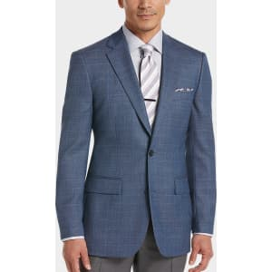 48568dba2 Joseph & Feiss Gold Blue Plaid Classic Fit Sport Coat from Men's ...