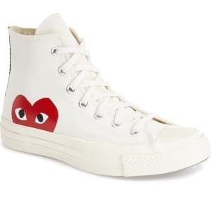 Men's Comme Des Garcons Play X Converse Chuck Taylor Hidden Heart High Top Sneaker, Size 6 M White