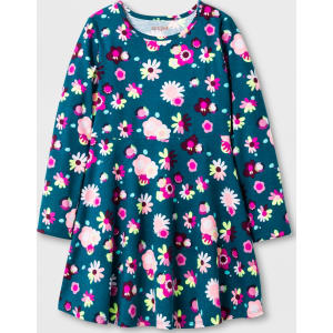 bcd3df130765ad Girls' Long Sleeve Floral Print Dress - Cat & Jack Green L from Target.