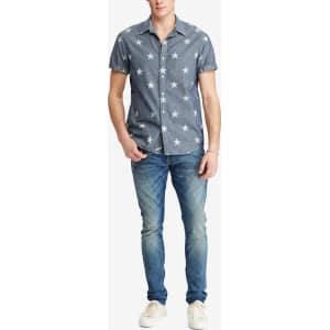 736d3a92a Denim & Supply Ralph Lauren Men's Star-Print Chambray Shirt from Macy's.