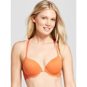 24c56c40d770d Women s Lace Racerback Bra Sunset Orange - 34D from Target.