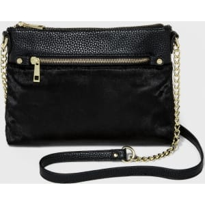 4fb8258cfb Women's Top Zip Cross Body Bags - A New Day Black, Size: Small from ...