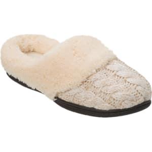 b173a0ada47 Women s Dluxe by Dearfoams Carol Cable Knit Scuff Slippers - Oatmeal ...