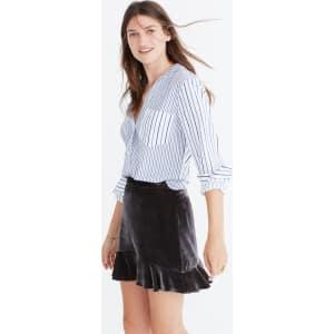 a121c46c7 Velvet Ruffle-Edge Skirt from Madewell.
