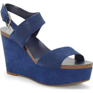Vessinta Nubuck Leather Platform Wedge Sandals