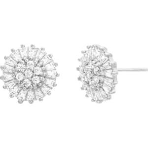 6d20f4751 Nes Jewelry Cubic Zirconia Flower Stud Cluster Earrings from Sears.