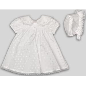 ddfe6d32f Madonna Infant Girl's Christening Dress & Bonnet, Size: 9-12 Months ...