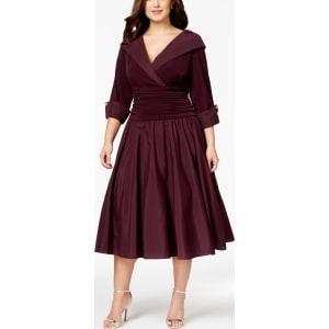 e9bc1b55c4612 Jessica Howard Plus Size Portrait Collar A-Line Dress from Macy's.