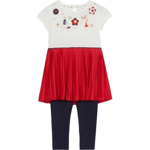 402965a8e9 J by Jasper Conran Girls' Red Applique Dress and Leggings Set from ...