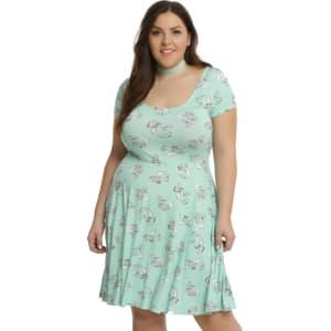 Disney The Little Mermaid Ariel Green Princess Dress Plus Size