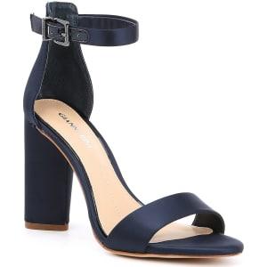 Gianni Bini Joenah Two Piece Ankle Strap Block Heel Dress Sandals