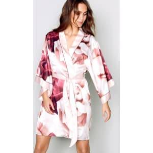 e2d412d822de B by Ted Baker - Pink Satin  Porcelain Rose  Dressing Gown from ...