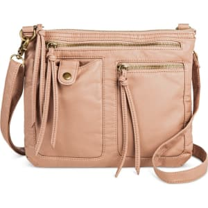 f5b178bfefe Women s Zippered Crossbody Handbag - Mossimo Supply Co. Dusty Rose ...