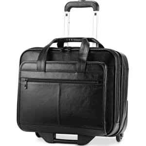 d8870b27f75b Samsonite Leather Rolling Mobile Office Laptop Briefcase from Macy s.