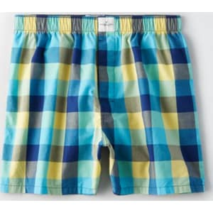 9fae506d6c73 Ae Plaid Poplin Boxer from American Eagle Outfitters.