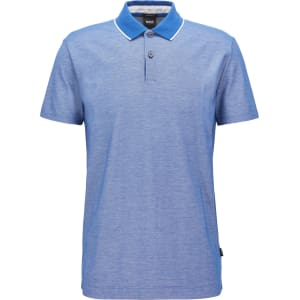 f5a2a43e8 Hugo Boss Regular-Fit Polo Shirt in Two-Tone Honeycomb Cotton M Open ...
