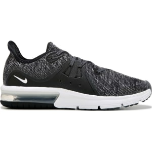 0c52279195d5 Nike Kids  Air Max Sequent 3 Sneaker Grade School Shoes (Black White) from Famous  Footwear.