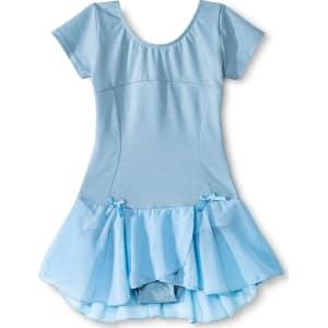 6efba963d Danz N Motion Girls  Lattice Back Cap Sleeve Activewear Leotard ...