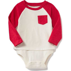 f1d52673f6 Old Navy 2 In 1 Raglan Sleeve Bodysuit For Baby - Robbie red from ...