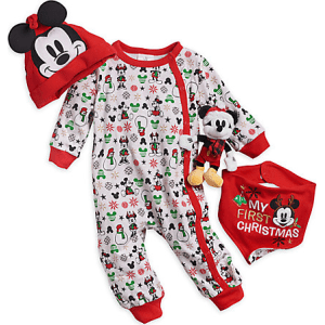 Mickey Mouse Baby's First Christmas Gift Set for Baby from Disney Store.