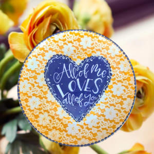 Lovely Lace Platter: Beginning Technique