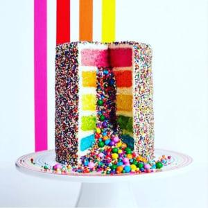 Flour Shop Rainbow Explosion Cake Event