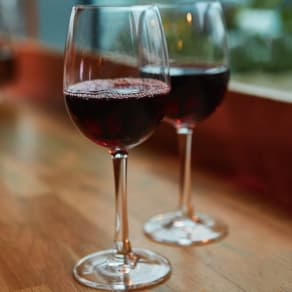 Free glass of wine when you order a main*