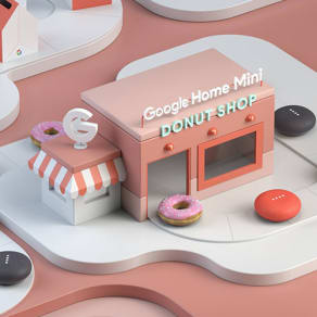 Google Home Mini Donut Pop-Up