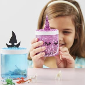 Michael's MAKEbreak Customize Slime or Glitter Swirl Jars
