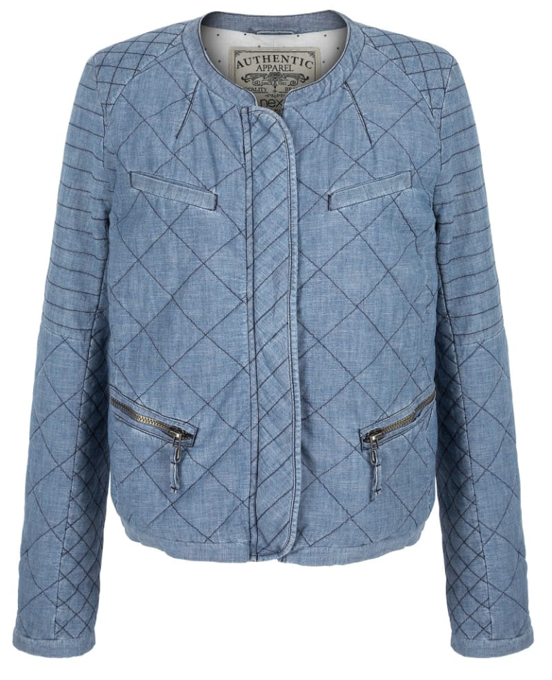 Quilted bomber jacket, £45, Next