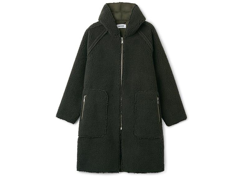 zip grey hood coat jacket
