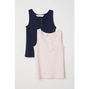 H & M - 2-pack vest tops - Blue