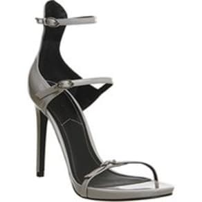 Kendall - Kylie Audra Strappy Heel SILVER PATENT