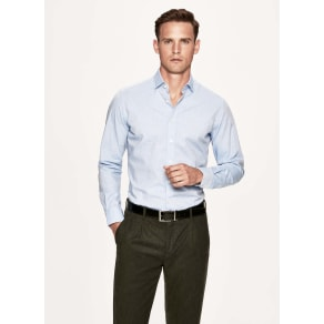 Herringbone weave cotton shirt