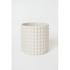 H & M - Textured plant pot - White
