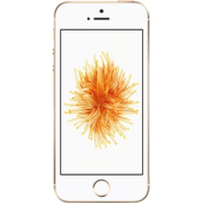 Apple iPhone SE (128GB Gold) on Essential 4GB (24 Month(s) contract) with UNLIMITED mins; UNLIMITED texts; 4000MB of 4G Double-Speed data. £38.00 a month.