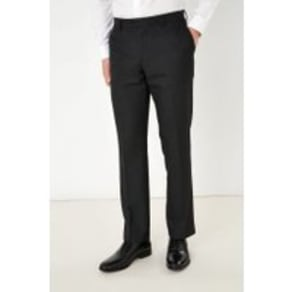 Mens Next Black Regular Fit Textured Trousers -  Black
