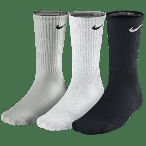 Nike 3 Pack Moisture MGT Cushion Crew Socks - Mens - Grey/White/Black