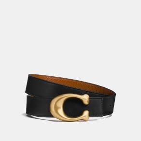 Coach Sculpted Signature Reversible Belt