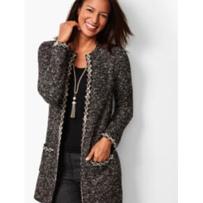 0db6bd29ca Talbots: Shimmering Boucle Topper