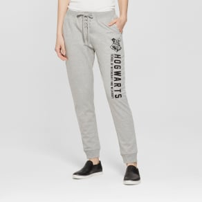 Women's Harry Potter Hogwarts Jogger Athleisure Pants (Juniors') Heather Gray M
