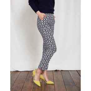 Richmond 7/8 Trousers Ivory Women Boden