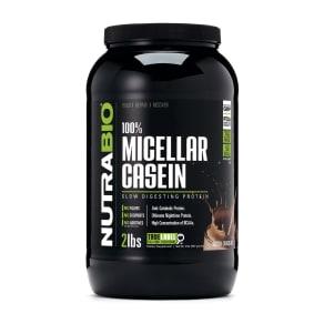 100% Micellar Casein - Dutch Chocolate - 2 lb(s) - NutraBio® - Casein Protein