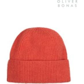f1d63753d534e Womens Oliver Bonas Orange Cashmere Blend Beanie Hat - Orange