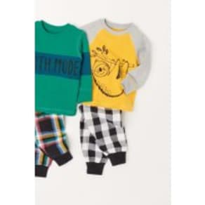 Boys Next Multi Character Check Pyjamas Two Pack (9mths-8yrs) -  Green