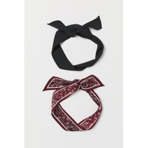 H & M - 2-pack hairbands - Red