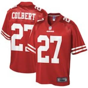 Men's NFL Pro Line Adrian Colbert Scarlet San Francisco 49ers Big & Tall Team Player Jersey